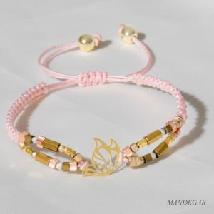 دستبند طلا مهره ای پروانه