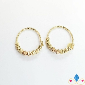 گوشواره طلا دوریکا دو رنگ
