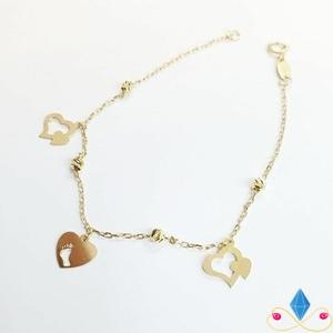 دستبند طلا آویزی قلب